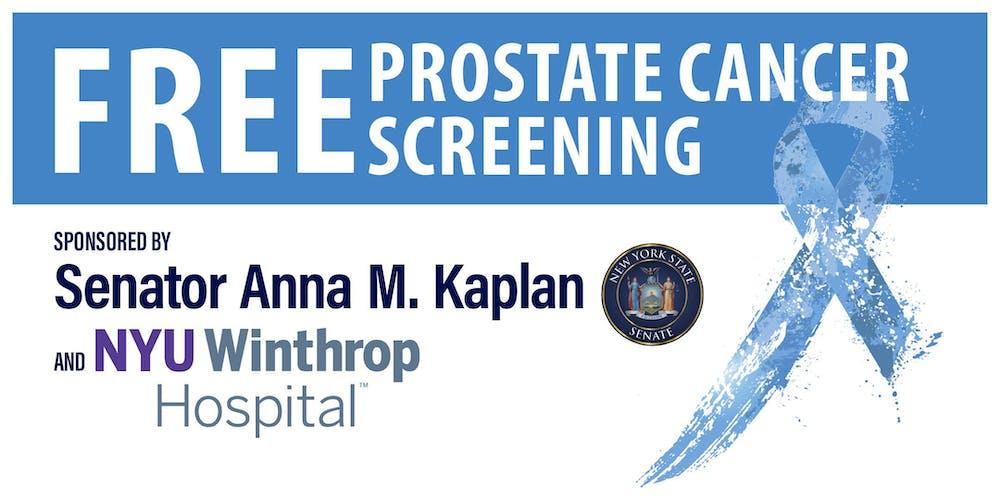 Free Prostate Cancer Screening | Senator Anna M  Kaplan