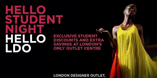 Student Night at London Designer Outlet