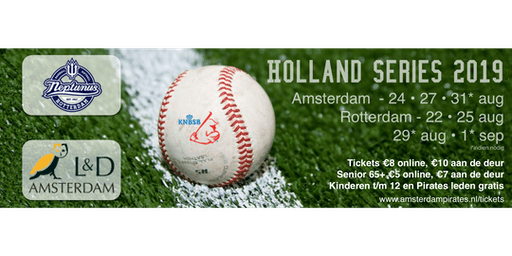 Holland Series 2019 - Game 2 | L&D Amsterdam Pirates - Curaçao Neptunus