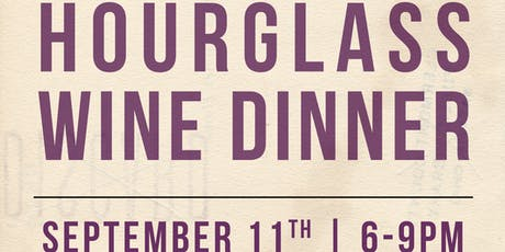 Hourglass Wine Dinner at Cobalt! tickets