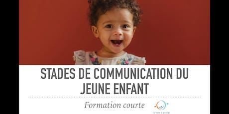Formation stade de communication du jeune enfant (approche Hanen)- MTL billets