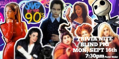 90s Pop Culture Trivia at Blind Pig tickets
