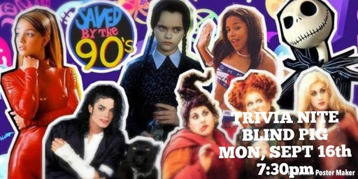 90s Pop Culture Trivia at Blind Pig