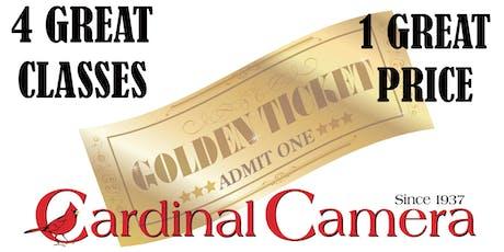 THE GOLDEN TICKET - 4 week Class tickets