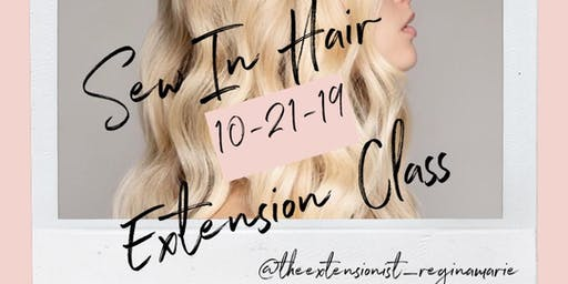 Sew In Hair Extension method taught by The Extensionist, Regina Marie