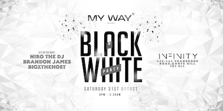 My Way Black & White Party tickets