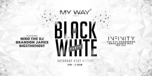 My Way Black & White Party