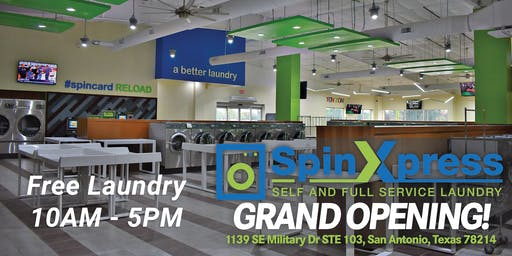 Free Laundry Day - Grand Opening Event