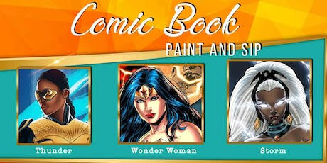 Comic Book SHE-ROES Paint and Sip tickets