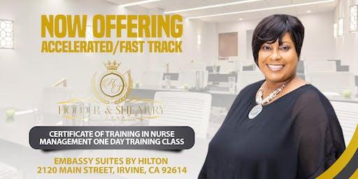 Certificate of Training in Nurse Management Training Class