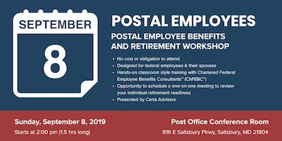POSTAL EMPLOYEES Retirement Workshop in Salisbury, MD