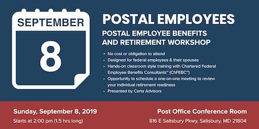 POSTAL EMPLOYEES Retirement Workshop in Salisbury, MD