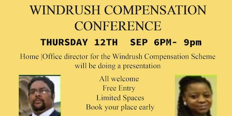 Windrush Compensation Conference tickets