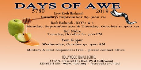 High Holy Days at Hollywood Temple Beth El tickets