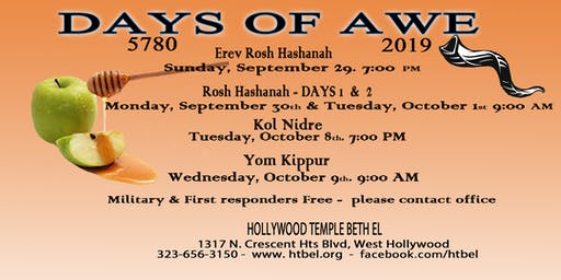 High Holy Days at Hollywood Temple Beth El