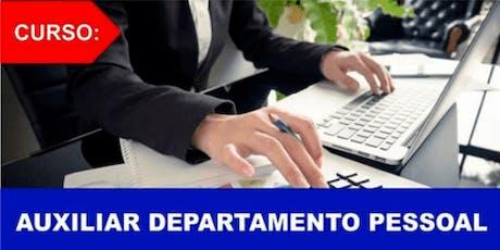 Curso Auxiliar Departamento Pessoal ingressos