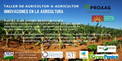 Taller de Agricultor-a-Agricultor:  Innovaciones en la Agricultura
