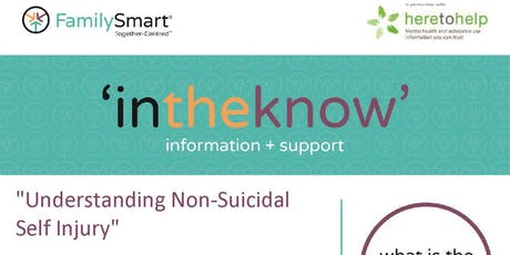 Understanding Non Suicidal Self Injury tickets