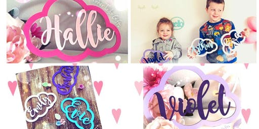 Wow! Paint & Decorate your own customised name cloud!