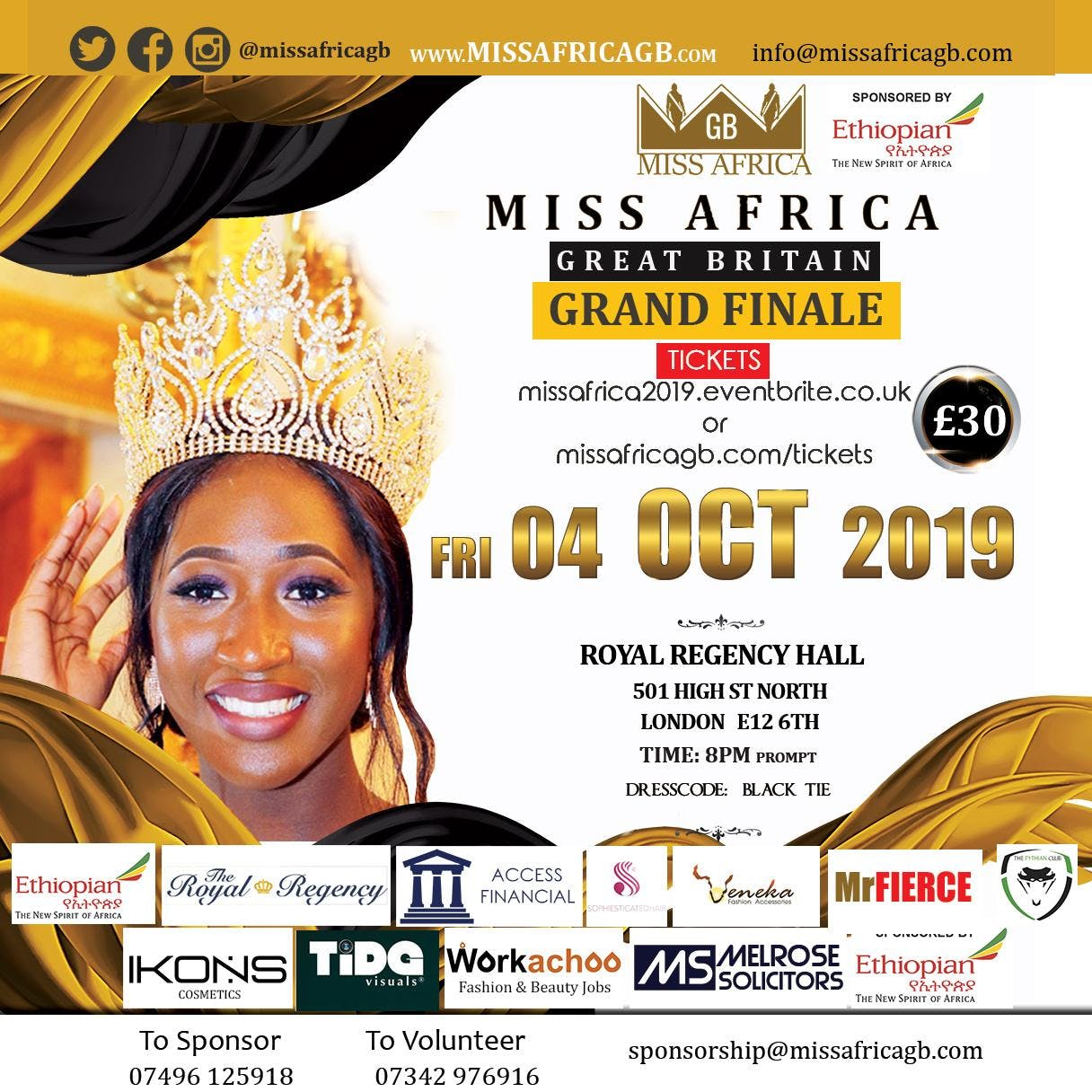 Miss Africa Great Britain 2019 Grand Finale