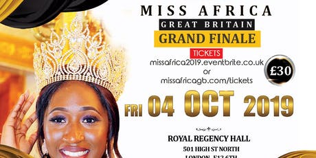 Miss Africa Great Britain 2019 Grand Finale tickets