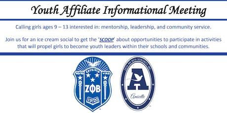 Youth Affiliate Information Meeting - Ice Cream Social tickets