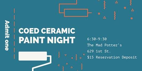 CoEd Ceramic Paint Night tickets