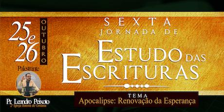 6ª Jornada de Estudo das Escrituras ingressos