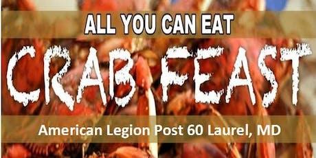 American Legion Annual October Crab Feast tickets