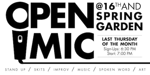 Open Mic @ 16th & Spring Garden - Sep. 26