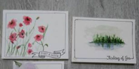 Watercolor Cards tickets