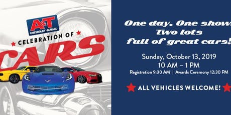 2019 A&T Chevrolet-Subaru Celebration of Cars Car Show tickets