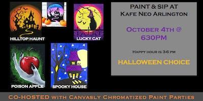 Paint & Sip: Halloween Choice! @ Kafe Neo