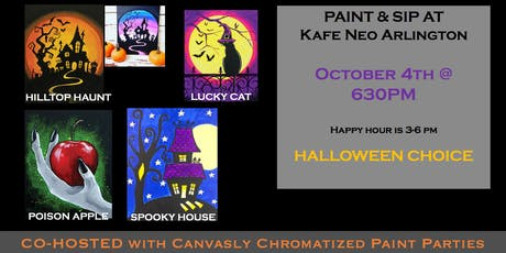 Paint & Sip: Halloween Choice! @ Kafe Neo tickets