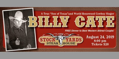 Billy Cate LIVE! tickets