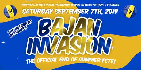 BAJAN INVASION Returns To Montreal ft. DJ BUZZ B from Toronto tickets
