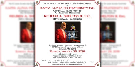 An Evening Honoring Reuben A. Shelton, III Esq. - 34th Grand Polemarch tickets