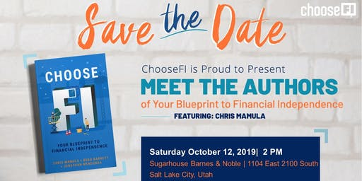 ChooseFI Book Tour and Signing with Chris Mamula