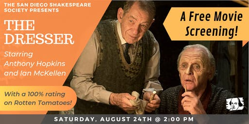 "Free Screening: ""The Dresser"" Starring Anthony Hopkins & Ian McKellen"