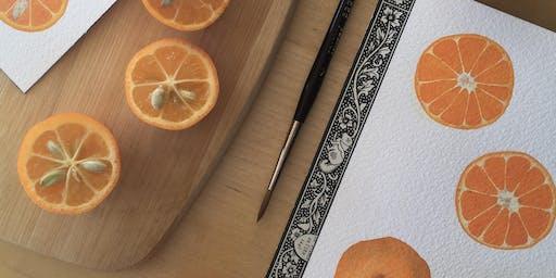 Citrus Watercolor Workshop