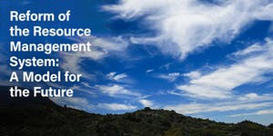 Reform of Resource Management System: A Model for the...