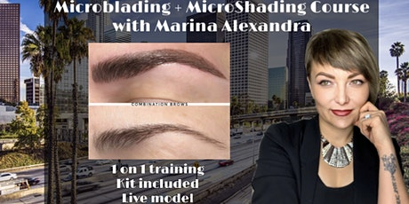 1 ON 1 PRIVATE MICROBLADING CERTIFICATION TRAINING COURSE BILINGUAL CLASS (English or Russian) tickets