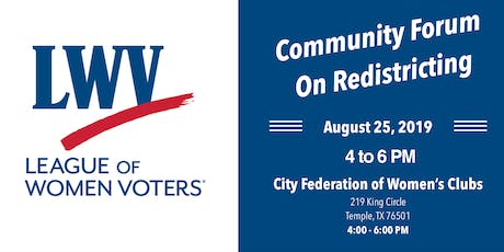 Community Forum On Redistricting tickets