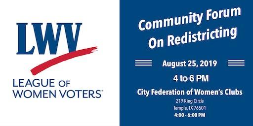 Community Forum On Redistricting