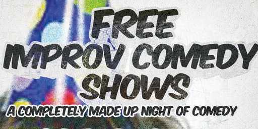Free Improv Comedy Shows in Kakaako - August 24th at 7:30pm