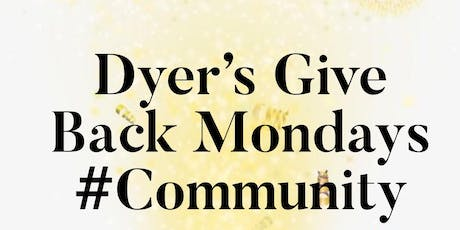 Dyer's Give Back Mondays for Crosswinds Elementary School tickets