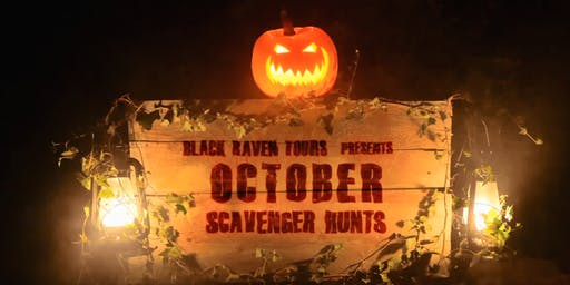 Black Raven Tours presents OCTOBER SCAVENGER HUNTS in the Queen City