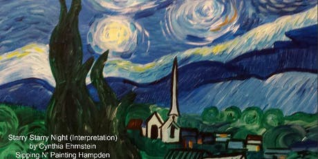 Paint Wine Denver Starry Night Sun Sept 8th 5:30pm $25 tickets