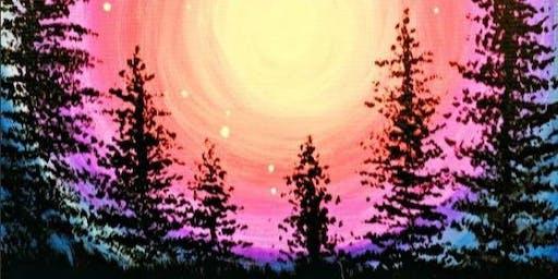 Paint Wine Denver Majestic Moonlight Sun Sept 29th 5:30pm $25