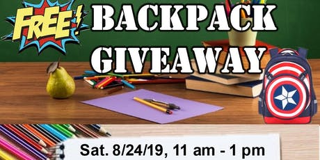 FREE Backpack Giveaway tickets
